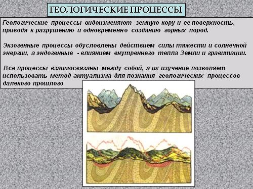 Геологические процессы