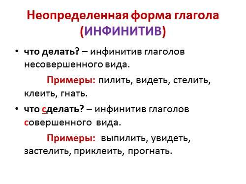 Урок русского языка в 4-м классе по теме обобщение о глаголе