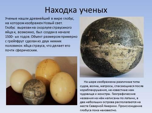 фото глобус страусиное яйцо