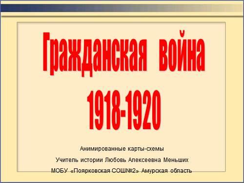 Презентация - Гражданская