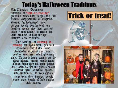 the american halloween tradition of trick or treating probably dates back to the early all souls day parades in england - The Tradition Of Halloween