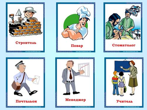 In the World of Professions — Профессии
