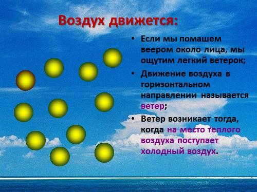 Презентация окружаюший мир Как человек использует свойства воздуха  Воздух движется Если мы помашем веером около лица мы ощутим легкий ветерок Движение воздуха в горизонтальном направлении называется ветер
