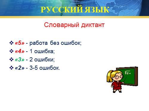 критерии оценок контрольных работ по математике