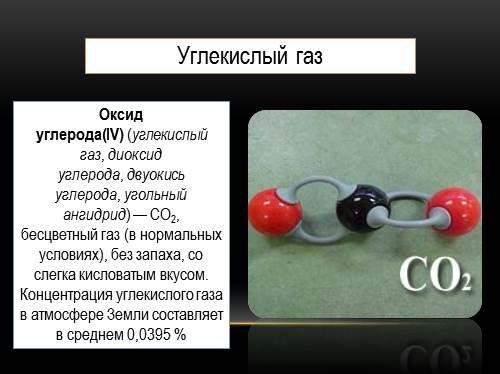 Презентация По Теме Углекислый Газ