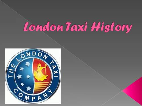 London Taxi History