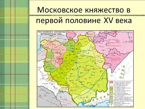 Московское княжество в первой половине XV века (15)