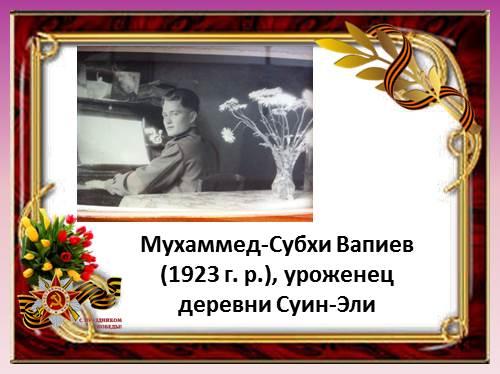 Мухаммед-Субхи Вапиев