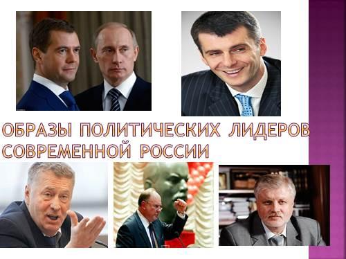Образы политических лидеровсовременной России