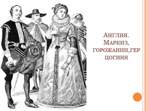 презентацию одежда и питание 19 века