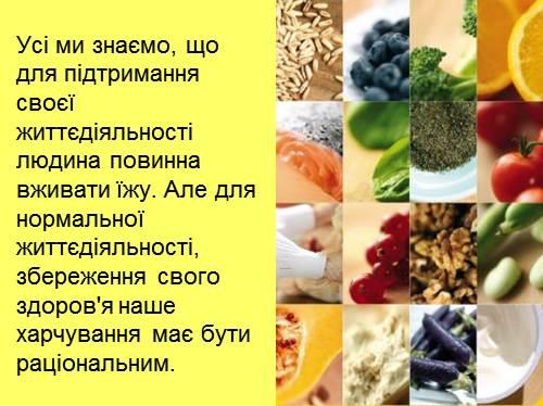Презентація на тему:збалансоване харчування.