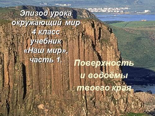 Поверхность и водоёмы твоего края