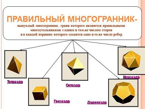 Скачать презентацию тему правильные многогранники