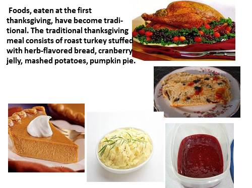 food at the first thanksgiving