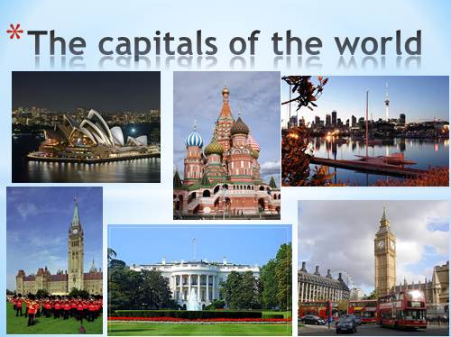 The capitals of the world