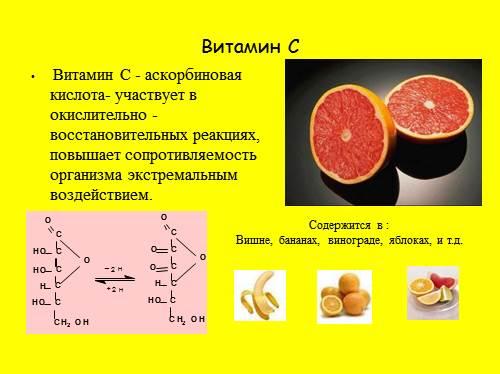 Презентация по витамину c