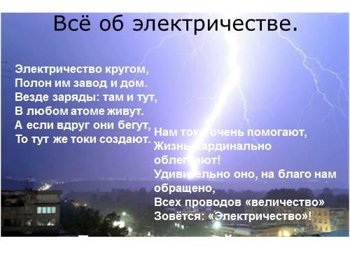 Всё об электричестве