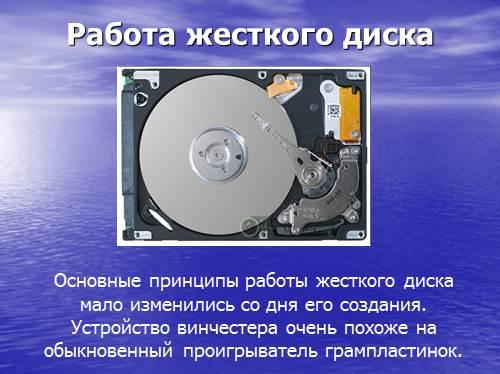 Доклад на тему жесткий диск по информатике 1725