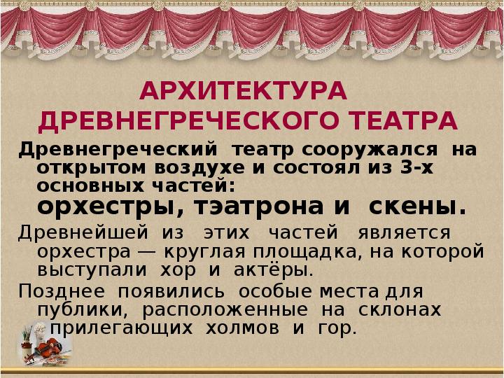 Древнегреческий театр сообщение
