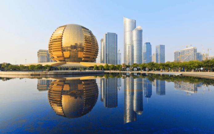 Город Ханчжоу в Китае