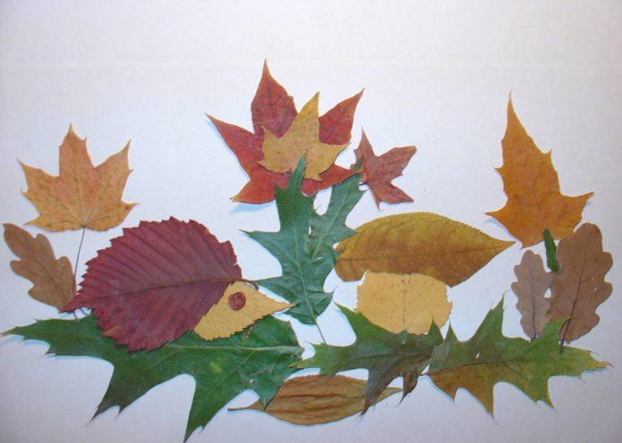 Апптикация из осенних листьев