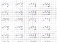 Примеры умножения в столбик