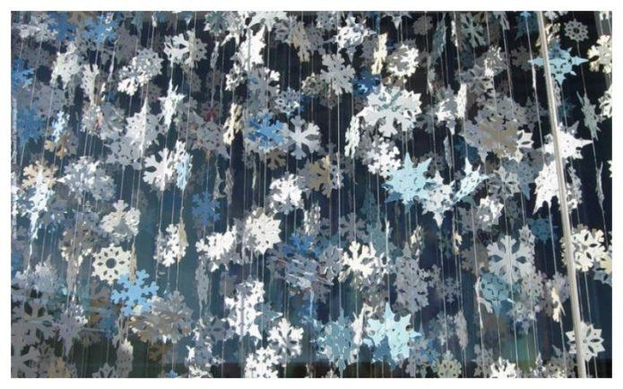 Подвесные снежинки для Нового года