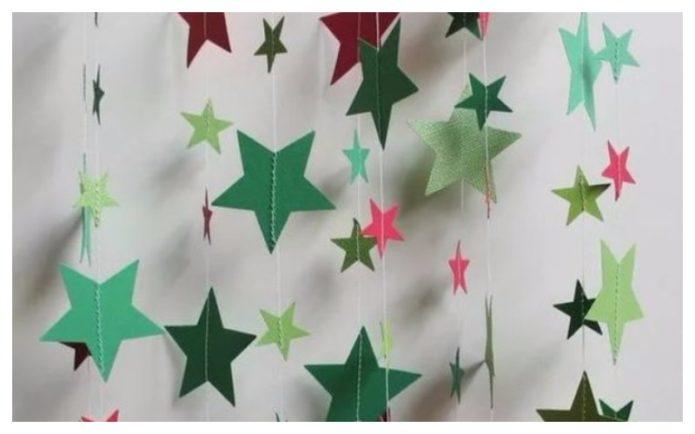 Звёздная гирлянда в качестве новогоднего декора