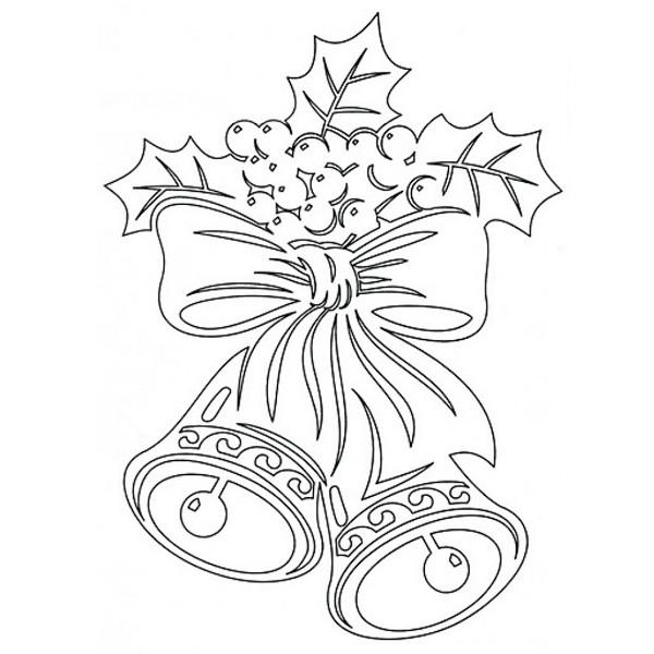 Праздничное украшение — вытынанка «Колькольчики» из бумаги
