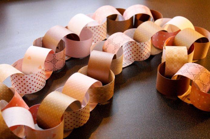 Гирлянда-цепочка из бумаги