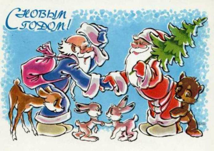 Яркий плакат к Новому году
