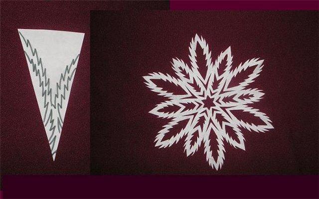 Снежинка на Новый год своими руками
