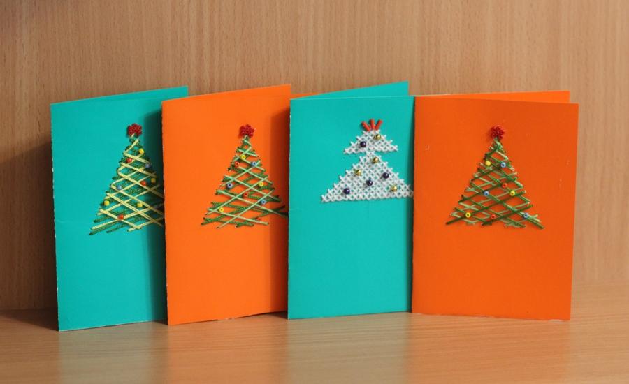 Красивые открытки на новый год для 4 класса