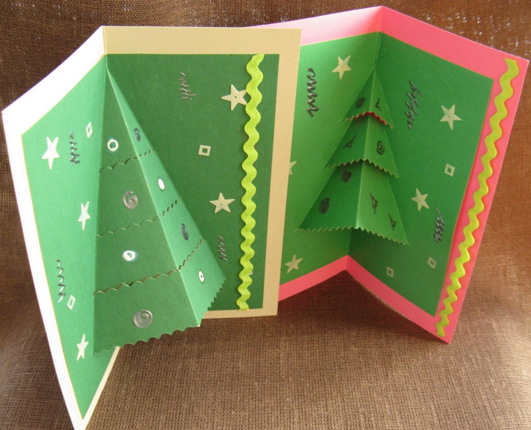 Своими руками сделать открытку новогоднюю