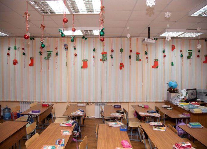 Украшение класса к Новому году