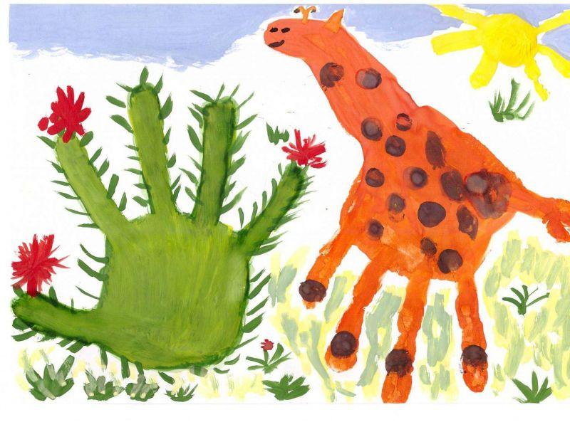 Рисование ладошками для детей 2-3 лет картинки, своими руками
