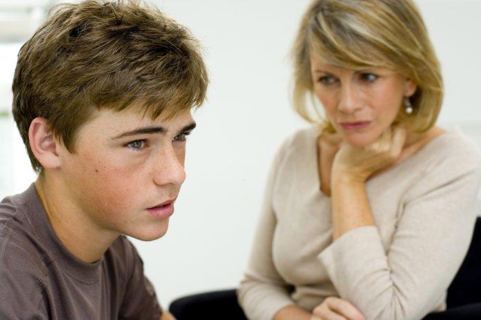 Мама и сын подросток