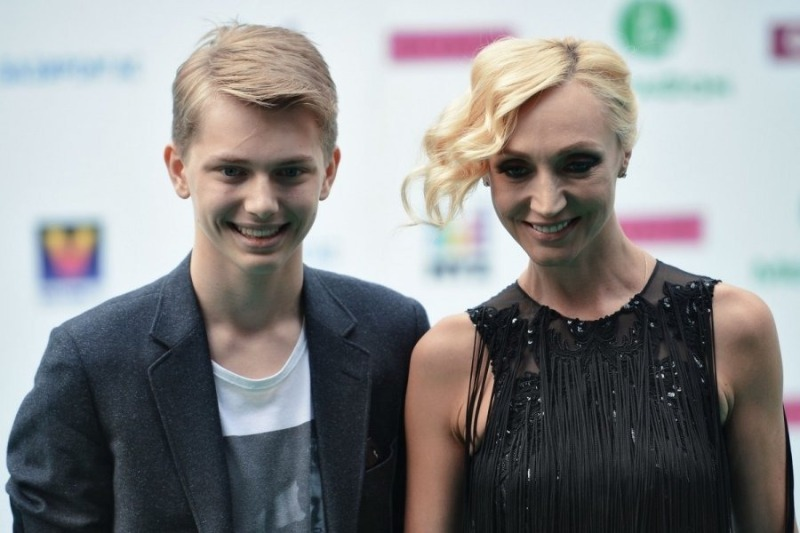 Кристина Орбакайте и сын Дени